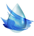 clear drop vector image vector image