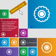 cogwheel icon sign buttons Modern interface vector image