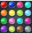Colorful buttons collection vector image