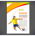 Concept of soccer player with colored geometric vector image vector image