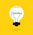 creative thinking idea concept decorative with vector image
