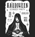 design halloween scary party poster flyer vector image vector image