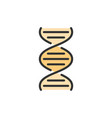 dna molecule flat color line icon vector image vector image
