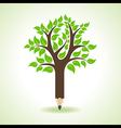Ecology concept - Pencil make a tree vector image vector image