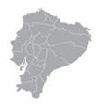 ecuador provinces map vector image vector image
