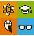 education concepts in flat outline style vector image
