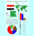 egypt infographics for presentation all vector image