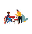 family during quarrel at home parents swearing vector image vector image
