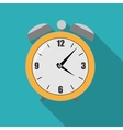 Flat Alarm Clock Icon vector image