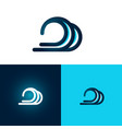 flat and simple design symbol wave on white vector image vector image