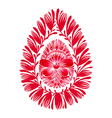 floral decorative ornament easter egg vector image vector image