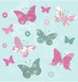 flower butterflies vector image vector image