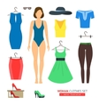 Girl or Woman Clothes Set vector image