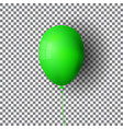 green realistic balloon green ball isolated on a vector image