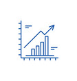 growth chart line icon concept growth chart flat vector image vector image