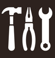 hammerpliers and wrench tools icon vector image vector image