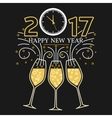 Happy new year greeting card EPS10 vector image