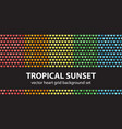 heart pattern set tropical sunset seamless vector image vector image