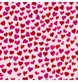 hearts doodle pattern vector image vector image