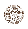 hipster icons in circle vector image vector image
