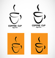 Hot coffee cup logo vector image vector image