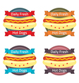 Hotdog Bun Label Set vector image
