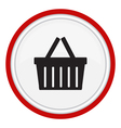 icon basket vector image vector image