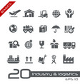 industry and logistics icons - basics vector image