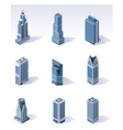 isometric buildings skyscrapers vector image vector image