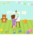 kids playroom with light furniture decor