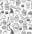 Kitchen stuff seamless pattern vector image
