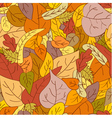 leaves autumn seamless pattern vector image vector image