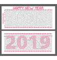 maze new year greeting card vector image vector image