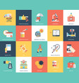 medical and healthcare flat icons set vector image