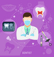 medical doctor dentist square banner vector image