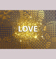 modern golden background love heart vector image vector image
