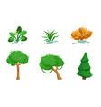 nature landscape elements set summer and autumn vector image vector image
