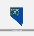 nevada usa map flag vector image vector image