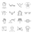 New technologies set outline style vector image vector image
