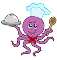 octopus chef vector image