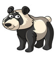 panda with sad smile vector image vector image