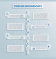 paper timeline infographics vector image