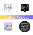 partner yoga icon vector image