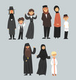 people of different religions in traditional vector image vector image