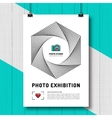 Photo exhibition design template poster or flyer vector image