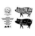 pork cut vector image vector image