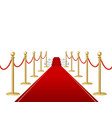 realistic detailed 3d red carpet barrier rope and vector image vector image