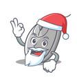 santa mouse mascot cartoon style vector image