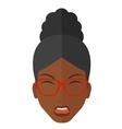 Screaming aggressive woman vector image vector image