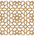 seamless arabic geometric ornament in golden color vector image vector image